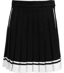 balmain pleated viscose skirt