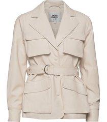 cecilia jacket lange leren jas lange jas wit twist & tango