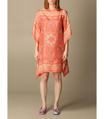 emilio pucci dress emilio pucci kaftan dress in printed silk