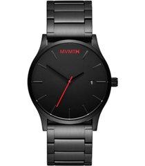 mvmt men's classic black stainless steel bracelet watch 45mm