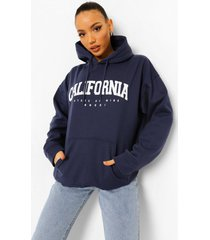 tall california collegiate hoodie, marineblauw