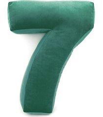 poduszka cyferka 7 velvet zielona