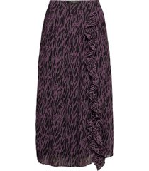 grace york skirt lång kjol lila bruuns bazaar