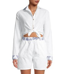 onia women's gia romper cover-up - white - size m