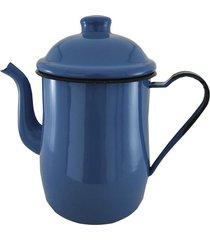 leiteira de aço esmaltada metallouça azul 1l