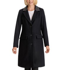 bcbgeneration faux-leather-collar walker coat