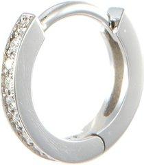 'berbère' diamond 18k white gold mini single hoop earring