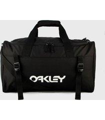 maletín negro-blanco oakley duffle bag 45 l