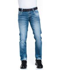 jean slim premium azul medio