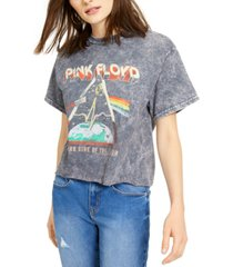 junk food cotton pink floyd cropped graphic t-shirt