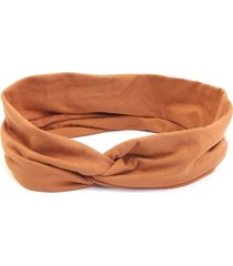 headband turbante bijoulux laranja escuro
