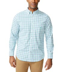 nautica men's plaid poplin shirt