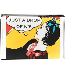 chanel pre-owned drop of no.5 comic clutch - black