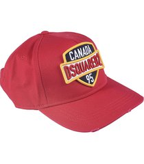 dsquared2 logo patched baseball cap