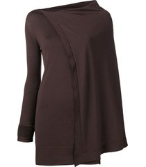 rick owens sisyphus off-the-runway cape tunic - brown