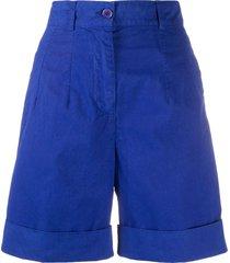 aspesi high-waisted bermuda shorts - blue