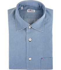 man regular fit shirt in light blue oxford cotton