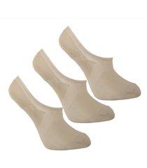 medias tipo baleta beige invisibles diseño uou socks pack x 3 und envio gratuito