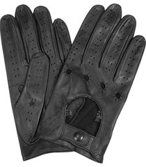forzieri designer men's gloves, men's black italian leather driving gloves