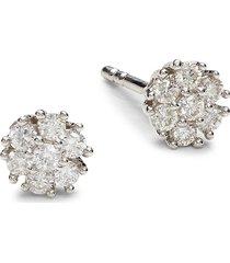 diana m jewels women's 14k white gold & 0.25 tcw diamond stud earrings