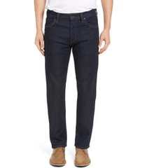 men's 34 heritage courage straight leg jeans, size 35 x 34 - blue