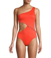 asymmetric 1-piece swimsuit