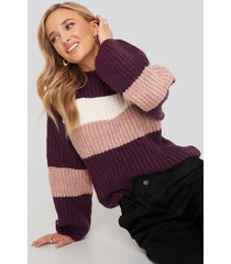 na-kd trend striped chunky knitted sweater - multicolor