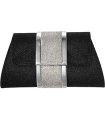 nina tiana geometric clutch with crystal stripe