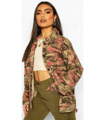 camo oversized utility jacket, khaki