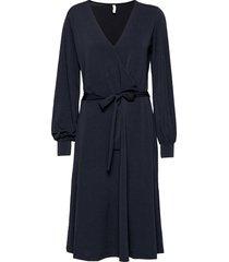 sc-oliva knälång klänning blå soyaconcept