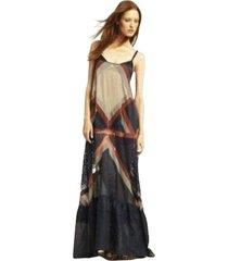 runway chantelle maxi color block dress