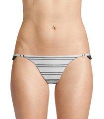 same swim women's the pin-up woven bikini bottoms - white stripe - size l