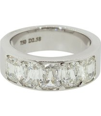 saboo fine jewels 18kt white gold cushion cut diamond ring - whtgold