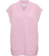 keiko vest 11250 vests knitted vests roze samsøe samsøe