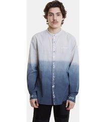 bicolour shirt with degradé - blue - xxl