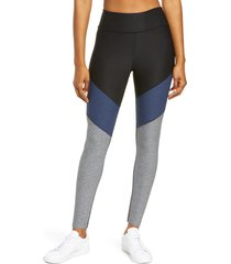 outdoor voices springs 7/8 leggings, size large in black/navy/graphite at nordstrom