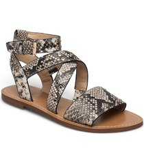 cevie2/sandalo /leathe shoes summer shoes flat sandals grå guess