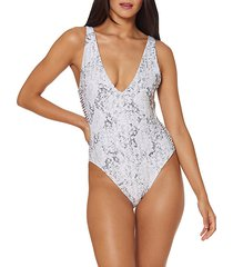 reversible macrame one-piece swimsuit