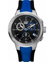 reloj azul cat t8 chrono