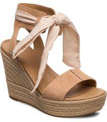 w wittley sandalette med klack espadrilles beige ugg
