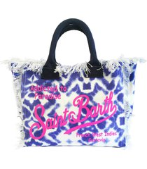 light blue tie dye canvas bag