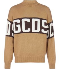 gcds band-logo wool-blend sweatshirt