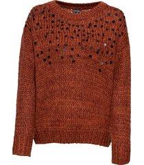 maglione con paillettes (marrone) - bodyflirt