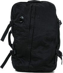 mens lens zipped buckle backpack