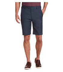 traveler performance flat front tailored fit comfort waist shorts by jos. a. bank