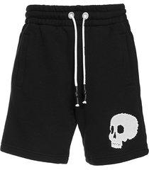 black skull shorts