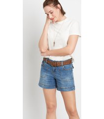 maurices womens medium braided belt 5in shorts by blue planet