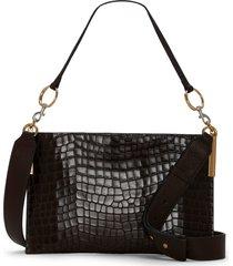 vince camuto dev leather crossbody bag - brown
