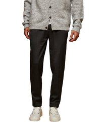men's topman crop drawstring pants, size 34 x 32 - grey