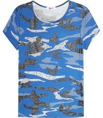 camiseta mujer militar color azul, talla 6
